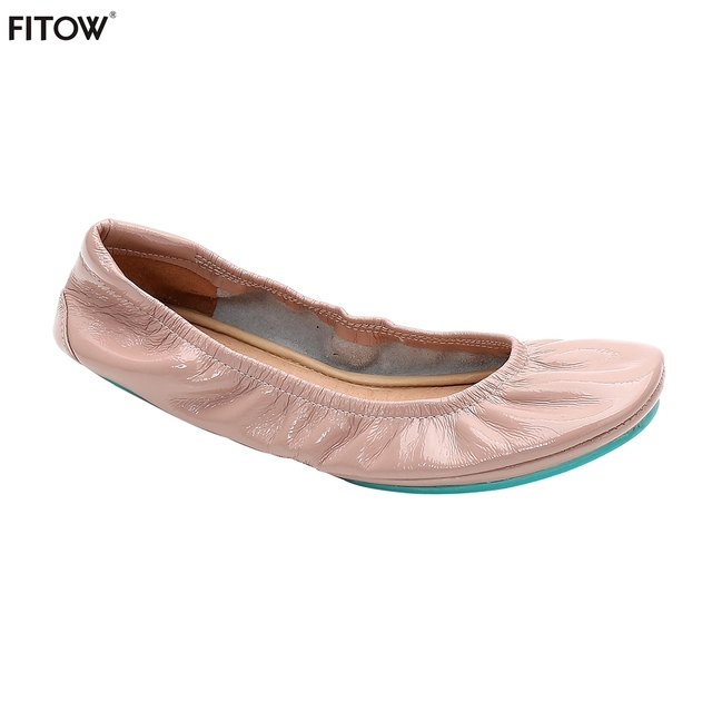 b57be500c3cf1 2 Pairs/lot Blue Outsole Foldable Ballerina Shoes Women Leather Ballet  Flats Foldable Portable Flats Shoes Size 36-42