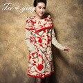 2015 корейский зимние пальто для женщин Среднего стиль высокое качество пульс размер шерстяные шинель мода вышивка пальто женщин M-XXXL