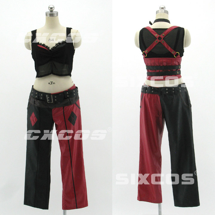 Hallowmas Christmas Game Anime Batman Arkham Asylum City Harley Quinn Party Fashion Uniform Cosplay Costume Custom-made Any Size