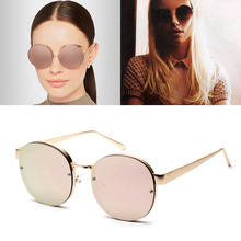 JackJad 2017 Fashion Women Color Mirror Round Metal Frame Sunglasses Woman Brand Design Hot Sun Glasses Oculos De Sol Feminino