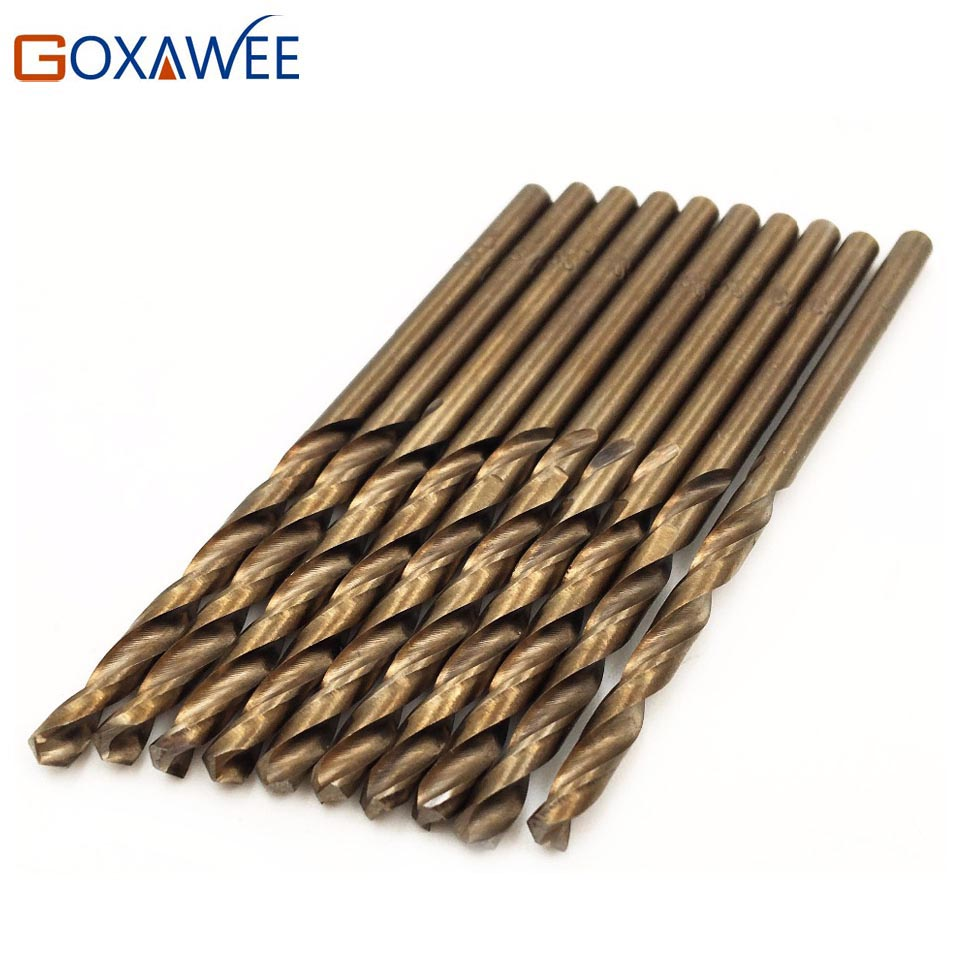 GOXAWEE 20Pcs Twist Drill Bit Set for Metal Wood Drill Mini HSS Co Drill Bits Woodworking 1/1.5/2/2.5/3mm Metal Drilling free shipping 13 pcs cobalt hss twist drill bits set metal drilling diy tools 1 5mm 6 5mm jobber drill bit for stainless steel