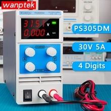 цена на KUAIQU mini DC Power Supply,Four display Switching Power Supply Digital Variable Adjustable 0-30V 0-5A PS305DM
