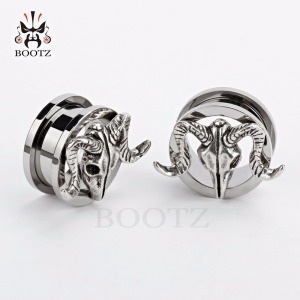 Image 3 - KUBOOZ Stainless Steel Ear Gauges Tunnel Plugs Silver Expander Screw Earrings Body Piercing Jewelry Ring 10PCS/Lot 6mm to 25mm