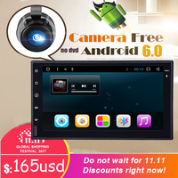 Universal 7 Octa Core 2 Din Android 6 0 Car DVD Player Double Din 1024 600