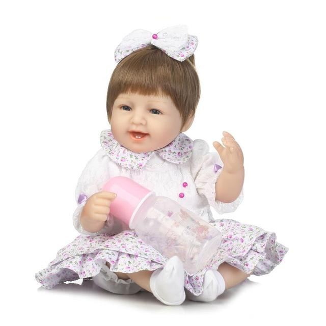 NPKCOLLECTION 16 Inch About 40cm  Baby Doll  Baby Alive With Skirt Clothes Brinquedos Bonecas Gifts For Girls Toy