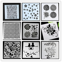 Plastic Stencil DIY cards stamp/Diy scarpbooking / crafts Tablecloth Creative stencil /cake coffee model(China)