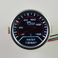 2 pulgadas auto termómetro medidor de agua Blanco luminoso modificación del coche calibrador del temp de agua especial envío gratis