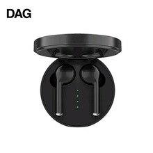 DAG TW40 TWS سماعة لاسلكية تعمل بالبلوتوث 5.0 سماعات سوبر باس 6D ثلاثية الأبعاد HiFi سماعة ستيريو يدوي دعوة الرياضة سماعات مزدوجة المدمج في HD