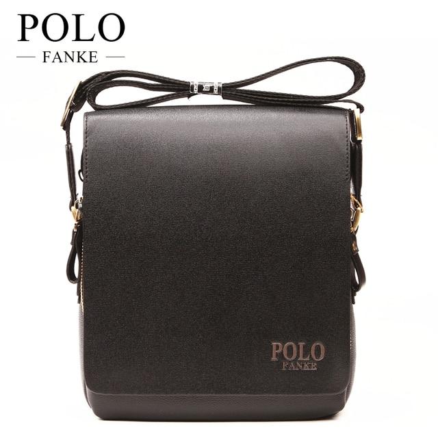FANKE POLO PU Leather luxury men bags design Casual Business Mens Messenger  Bag Vintage Men s Crossbody Bag bolsas male F4361 a93c8578ced9c