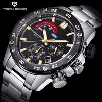 Business Stainless Steel Sports Men's Watches PAGANI DESIGN Luxury Brand Chronograph Quartz Watch Men Clock Relogio Masculino
