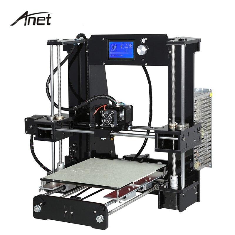 Anet Impressora Desktop A6 3D DLY Kit Viveiro Grande Tamanho de Impressão de Alta Precisão em Alumínio Presente 8 GB Cartão SD Construir ferramentas