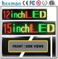 Водонепроницаемый открытый p10 один красный цвет из светодиодов дисплей программируемый из светодиодов перемещение сообщение вывеска мини из светодиодов вывеска RGY цвет