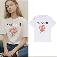 Street Fashion Slim Summer Basic t shirt Women 2017 New Letter Print Casual Slim Women Tops