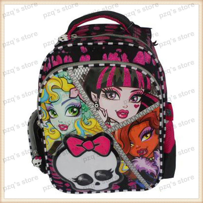 fee56bd4a5e8 ... Free Shipping Kid Cartoon Monster High School Pencil Case Student  Messenger Lunch Box Bag Backpack Set ...