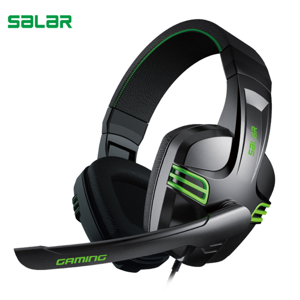 Salar KX101 Gaming Headset Deep Bass Gamer Stereo Headphone Over Ear 3.5mm Wired PC Computer HiFi Headband With Microphone led bass hd gaming headset mic stereo computer gamer over ear headband headphone noise cancelling with microphone for pc game