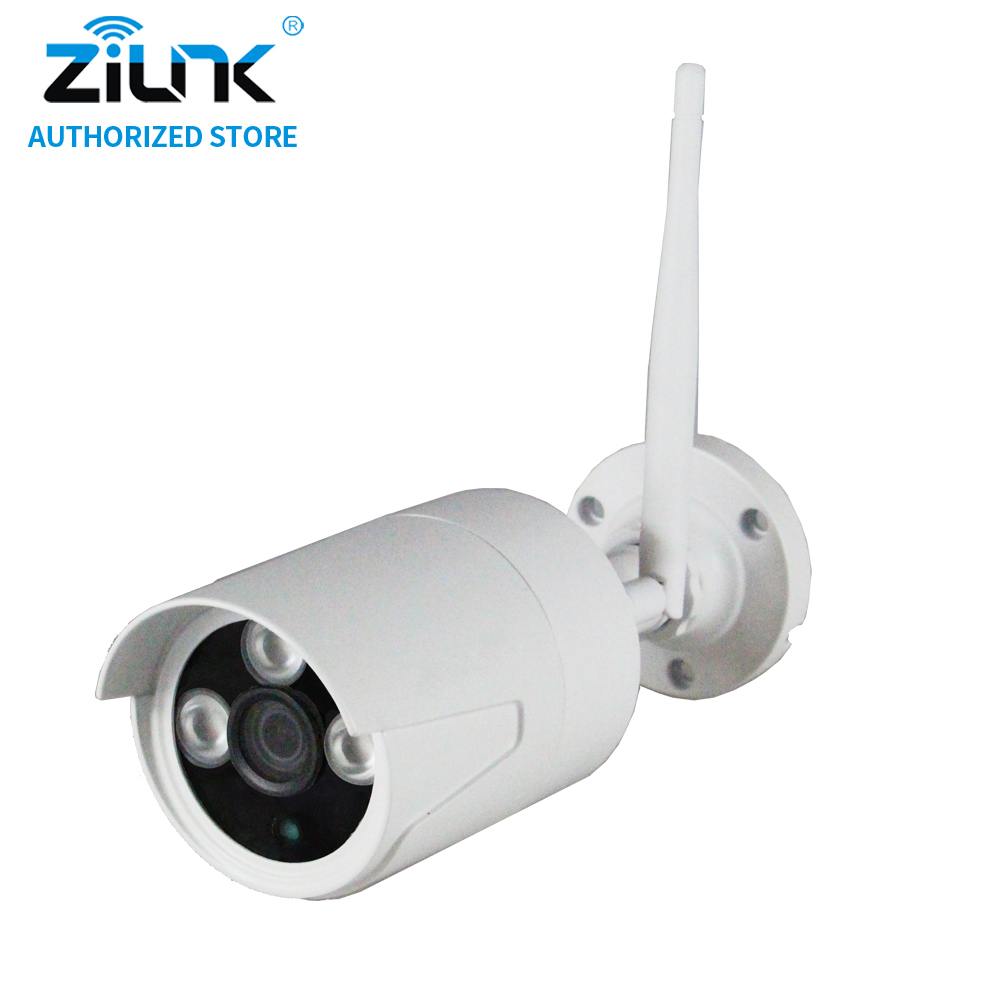 ZILNK 720P Wireless Bullet IP Camera 1.0MP Waterproof WiFi CCTV Night Vision TF Card Onvif Motion Detection Free Power Adapter wistino cctv camera metal housing outdoor use waterproof bullet casing for ip camera hot sale white color cover case