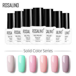 ROSALIND Gel 1 7ML gel nail polish red Gel Varnish Need Top Base Coat UV gel lacquer  for stamping Manicure