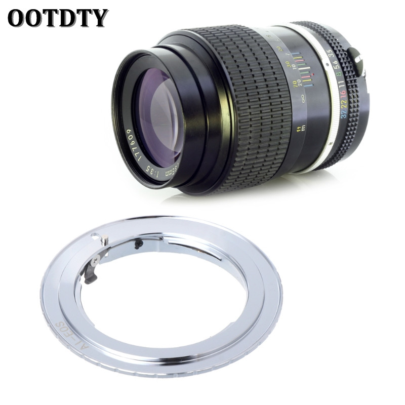 OOTDTY FOR AI-EOS Adapter For Nikon AI AI-S F Lens To Canon EF EOS Camera AF Confirm Ring