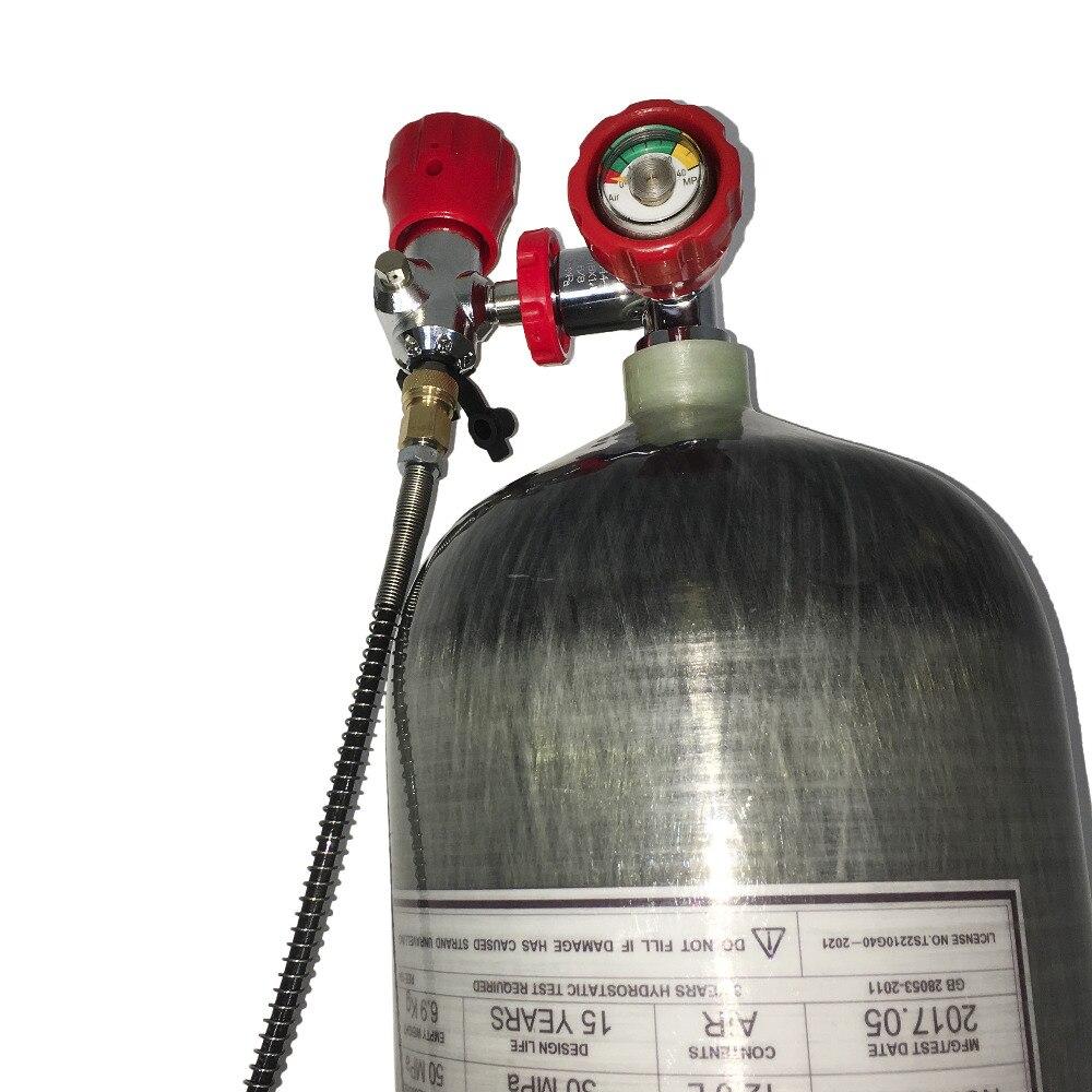 Bouteille de pcp ACECARE cylindre de réservoir d'air en carbone 4500psi paintball tank airforce condor station de remplissage des cylindres de plongée AC312101