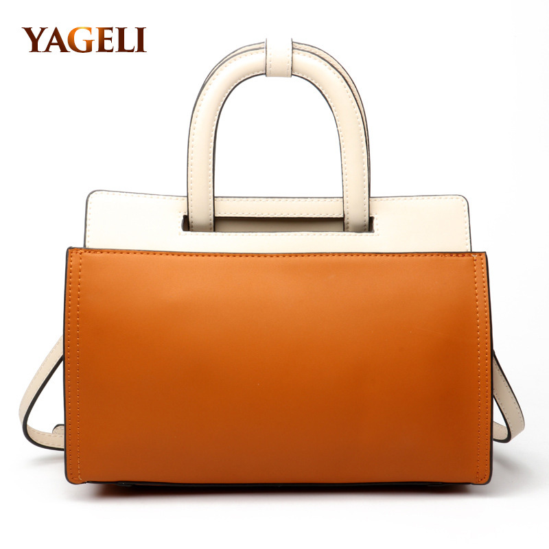 2018 genuine leather women handbags fashion ladies' tote leather brand design women's shoulder bags luxury casual top-handle bag eimore brand genuine leather handbags women small simple tote bag luxury fashion ladies classic pattern leather shoulder bags