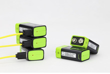 Cncool 2pcs 9V 400mAh lithium li-po li-ion rechargeable battery + micro usb cable for charging