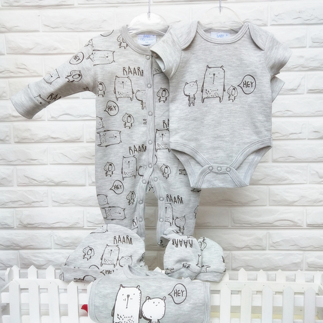 Nieuwe ontwerp pasgeboren baby kleding set voor baby bodysuit
