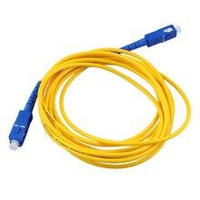 10 medidores SC SC sm sx 3mm 10 m 9/125um sc/cabo de ligação em ponte da fibra ótica do cabo de remendo da fibra ótica do pc
