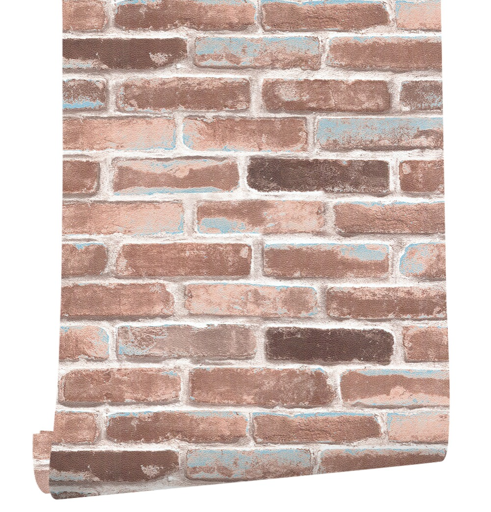 HaokHome Brick Peel Stick Wallpaper For Walls 3D Brown Self Adhesive Stickers Contact Paper living room bedroom wall decor marble 3d three dimensional wall stickers self adhesive renovation brick pattern living room background dzas lq wallpaper