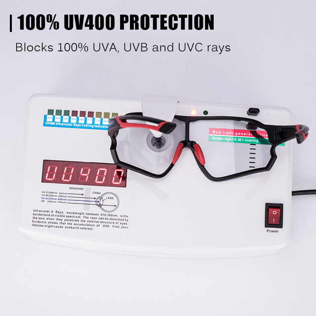 ROCKBROS Photochromic Bike Glasses Bicycle UV400 Sports Sunglasses for Men Women Anti Glare Lightweight Hiking Cycling