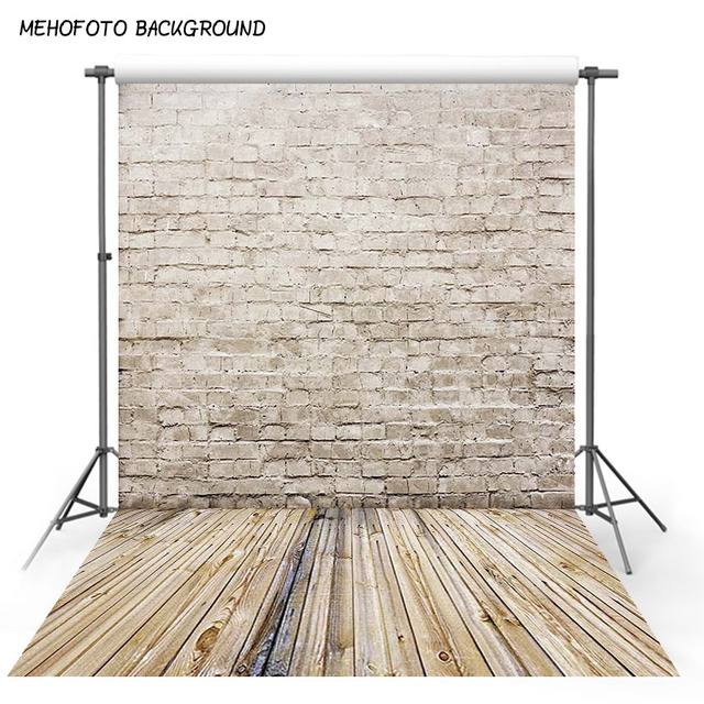 Brick Wall Photography Backdrops Wooden Floor Backgrounds for Pet Toy Photo Studio Baby Shower Newborn Children Photophone