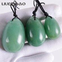 LIUDADAO камень зелёный авантюрин большой маленький вагинальные яйца мяч кристалл массажер яйца вагинальные шарики упражнения мышцы тазового дна здоровья