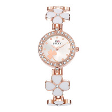 New Design Lovely Flower Women s Watch Rose Gold Bracelet Wrist Wacth Girls Ladies Dress Watches