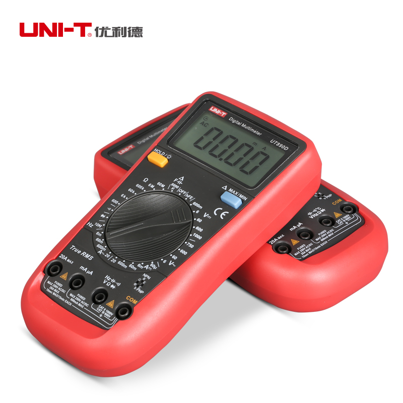 True RMS Digital Multimeter UNI-T UT890D UT 890C+ AC/DC frequency multimeter Ammeter Multitester цена