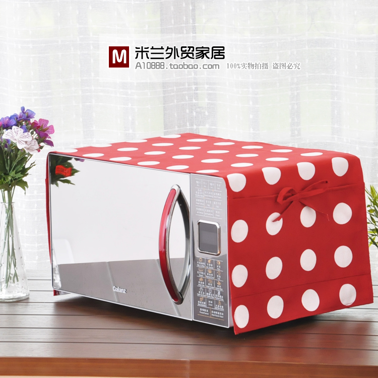 Ikea Mirage Cotton Fabric Korean Pocket Cover Of Microwave Oven Cloth Dust The Mediterranean In Ovens From Home Liances On