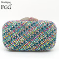 8Colors Rhinestone Evening Clutches Women Party Handbag Women Bridal Bags Crystal Wedding Clutch Purses Bridal Evening Bag Purse