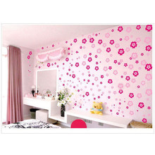 DIY 108 Flowers & 6 Butterfly Removable Wall Sticker Decal Home Bedroom Living/Wedding Room decor(China)