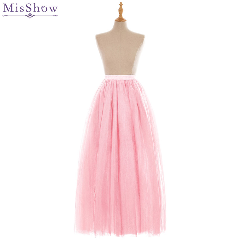 MisShow Hot Sale 18 Colors Tutu Petticoats Long 6 Layers Underskirt For Prom Evening Dresses 2018 Crinoline Petticoat Rockabilly