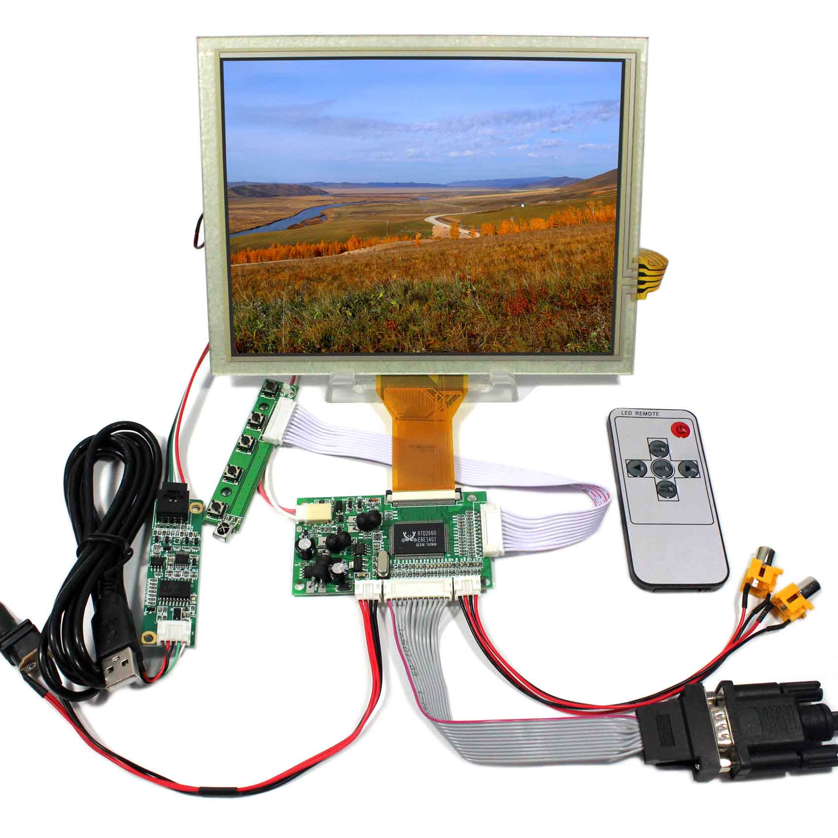 8inch 800x480 tft lcd display with driver board Remote8inch 800x480 tft lcd display with driver board Remote