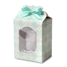 12.5*6.7*9.8cm 10 Pcs elegant blue Paper Box Wedding favor Christmas decoration Birthday Cookie Candy Chocolate Macaron packing