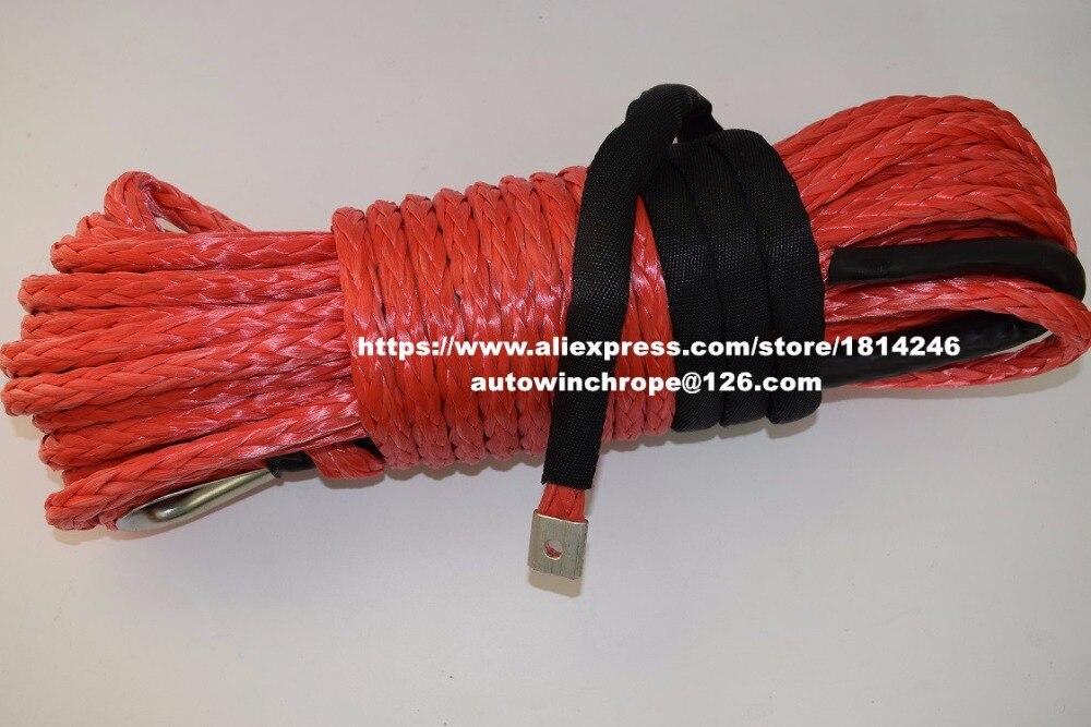 Хорошее качество красный 12 мм * 30 м синтетический трос, СВМПЭ трос лебедки, удлинитель лебедки, off road из бечёвки