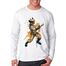 2019 Newest Men T Shirt Long Sleeve Superhero 3D Printed T-Shirt O Neck Man Tops Tee Shirts Cotton Mens Tees Male Brand Clothes