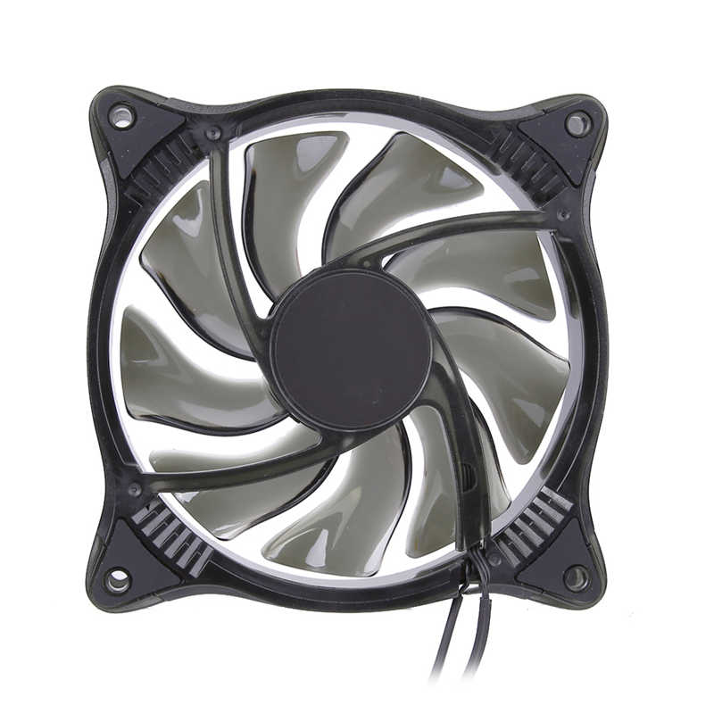 цена New Arrivel PC Cooler 12V 12CM 18LED RGB Light  PC Cooling Fan Cooler Deep Silence Quiet with a 3Pin transfer to 4Pin cable онлайн в 2017 году