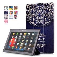 Impresión colorida de LA PU Funda de piel para Lenovo Tab 2 A10-70 A10-70F A10-70L A10-30 X30F Tab2 10.1 pulgadas Tablet PC Inteligente Caso de La Cubierta
