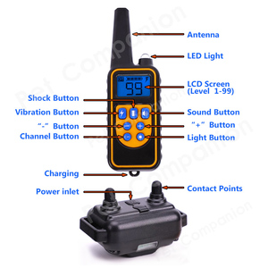 Image 4 - Rechargeable Waterproof Electronic Dog Training Collars Stop Barking LCD Display 800 yard Remote control Shock virbration tone