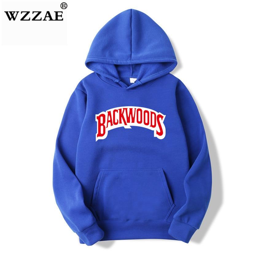 The screw thread cuff Hoodies Streetwear Backwoods Hoodie Sweatshirt Men Fashion autumn winter Hip Hop hoodie pullover Hoody 12
