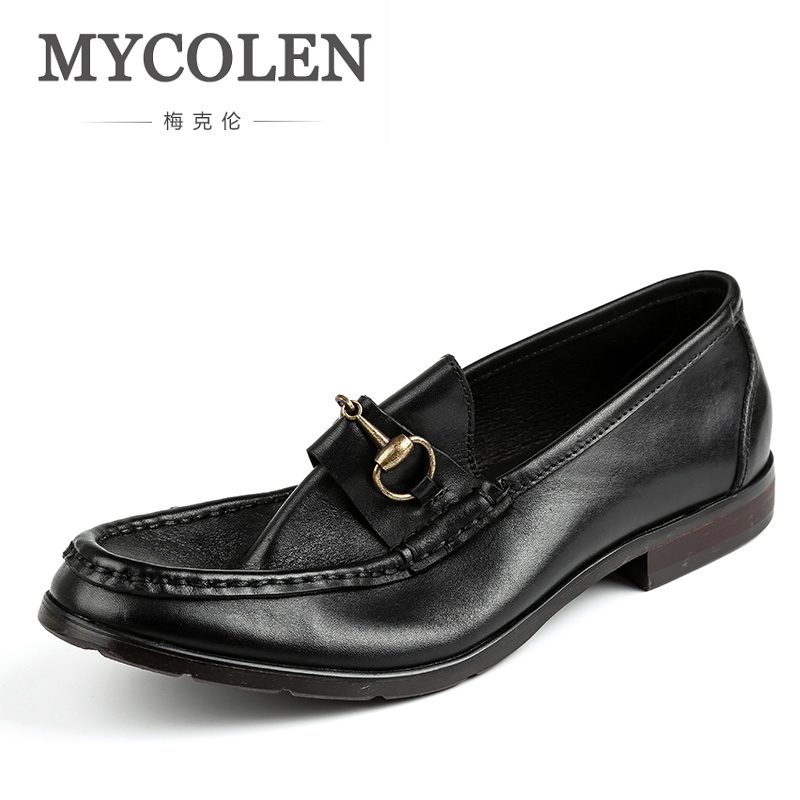 MYCOLEN Men Casual Shoes Leather For Men High Quality Slip On Flats Loafers Comfortable Fashion Style Driving Shoes Man Shoes стоимость