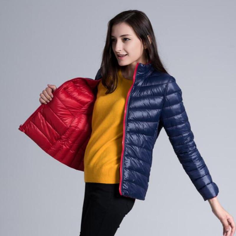Rihschpiece Winter Plus Size 3XL Duck   Down   Jacket Women Ultra light   Coat   Autumn Warm Thin Short Black Puffer Jackets RZF1509