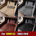 Esteiras do Assoalho do carro para BMW X3 2003-2010 anos XPE + Couro Anti-slip tapete do carro Dianteiro & Traseiro Forro Auto tapete Impermeável 4 cor