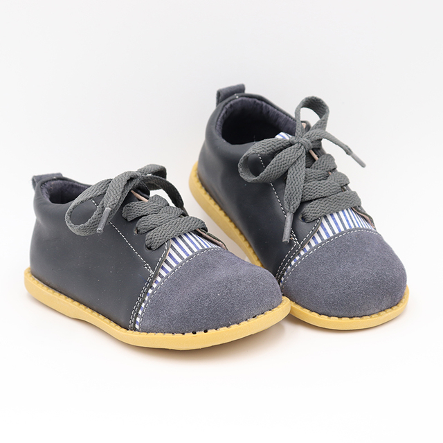 TipsieToes 高品質のファッション本革ステッチ子供子供少年少女 2019 秋の新到着