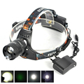 Aluminum Hiking Headlamp 2000 Lumens XML T6 LED Head Lamp Light Headlight for Camping Hunting